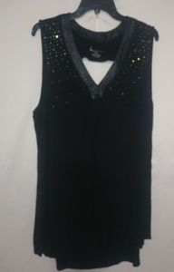 Lane Bryant Black Bling Tank 22/24 Plus